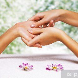 Hands massage in the spa salon